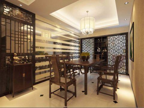 餐厅新中式风格装潢设计图片