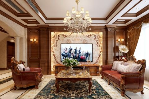美式风格180平米复式新房装修效果图
