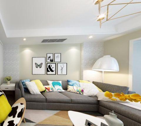 北欧风格120平米四室两厅新房装修效果图