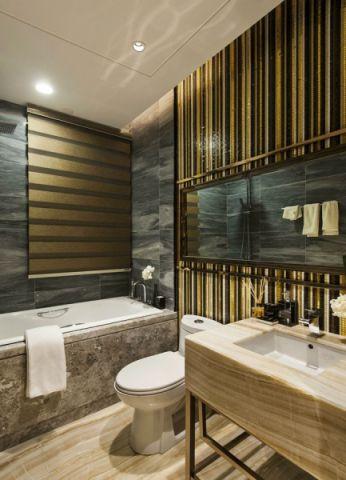 浴室浴缸混搭风格装修效果图