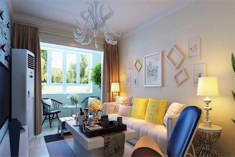 现代简约风格107平米公寓新房装修效果图