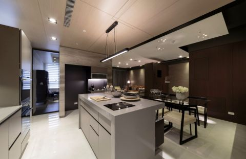 厨房吧台现代简约风格装修图片