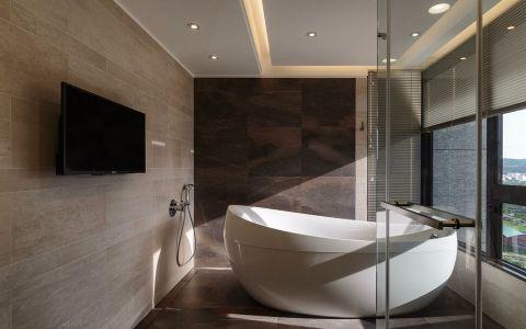 浴室浴缸现代简约风格装饰设计图片