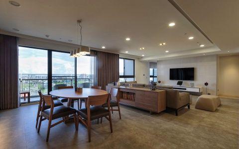 现代简约风格120平米三室两厅新房装修效果图