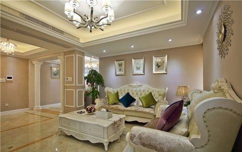 欧式风格100平米三室两厅室内装修效果图
