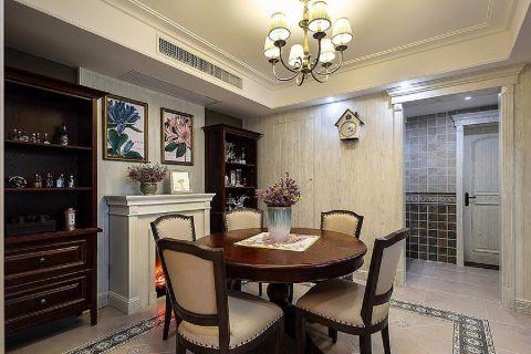 餐厅餐桌美式风格装潢设计图片