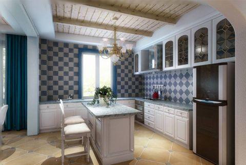 厨房橱柜地中海风格装潢效果图