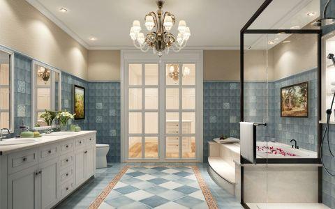 卫生间洗漱台美式风格装修效果图