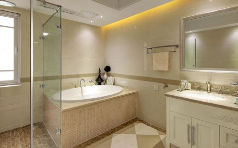 浴室浴缸现代简约风格装潢图片