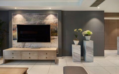客厅地砖混搭风格装饰设计图片