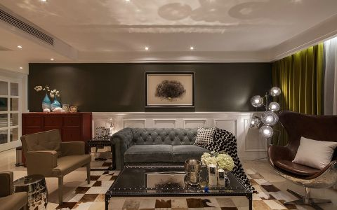 美式风格170平米大户型新房装修效果图