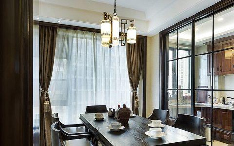 中式风格200平米大户型新房装修效果图