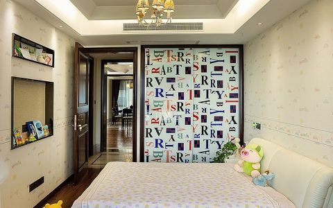 儿童房床中式风格装潢设计图片