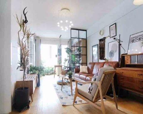 北欧风格72平米两室两厅新房装修效果图