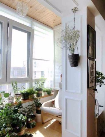 阳台窗台北欧风格装潢图片