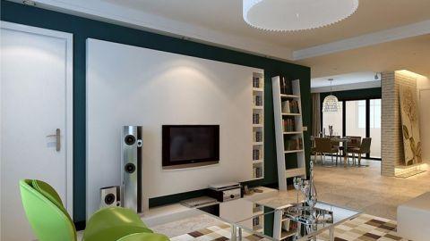 现代简约风格97平米两室两厅新房装修效果图
