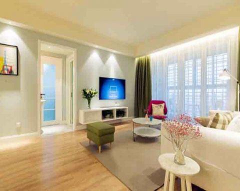 简约风格112平米三室两厅房子装修效果图