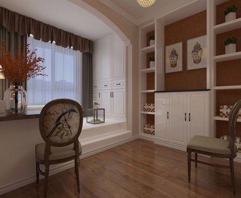 书房榻榻米美式风格装饰图片