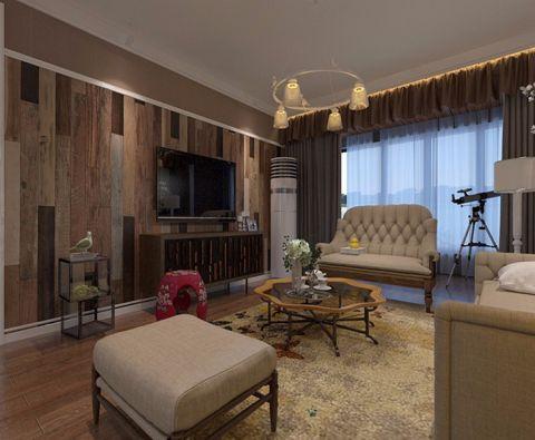 美式风格110平米两室两厅室内装修效果图