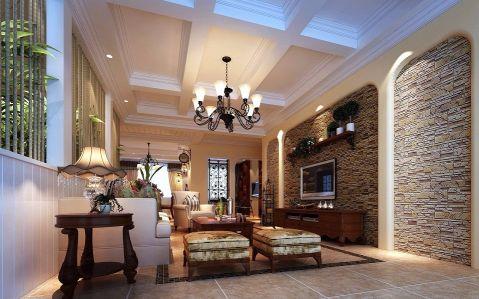 美式风格150平米四室两厅新房装修效果图