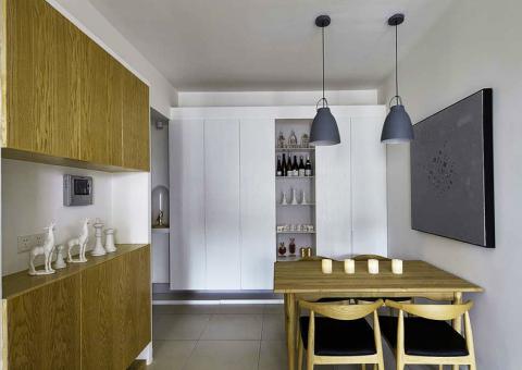 中式风格100平米两室两厅新房装修效果图