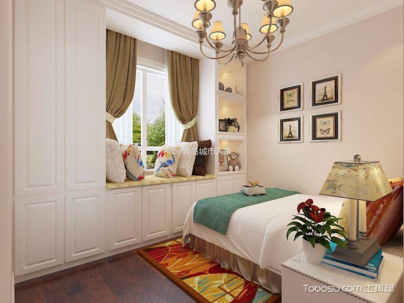 卧室 照片墙_简欧风格87平米两室两厅室内装修效果图