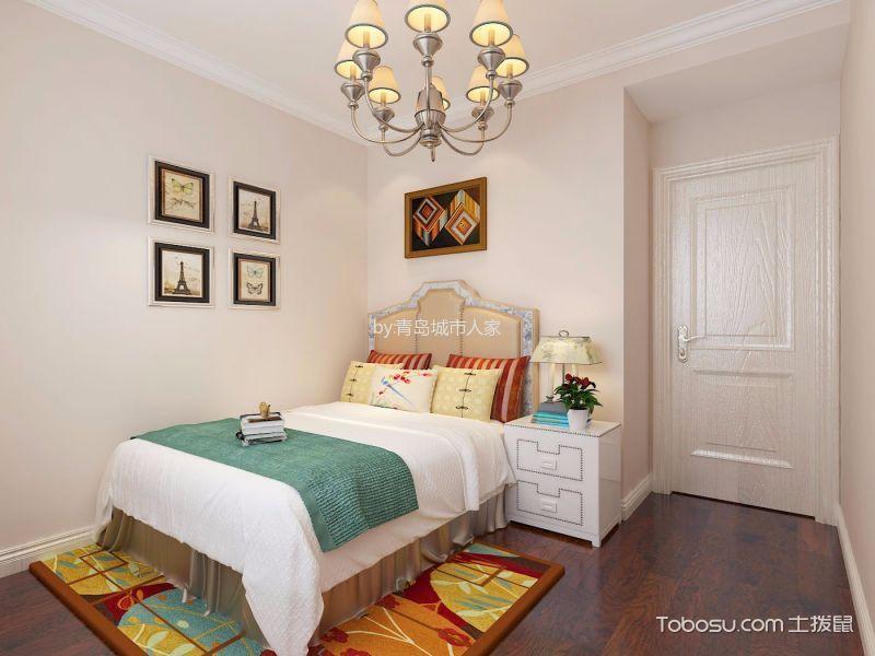 卧室 床头柜_简欧风格87平米两室两厅室内装修效果图