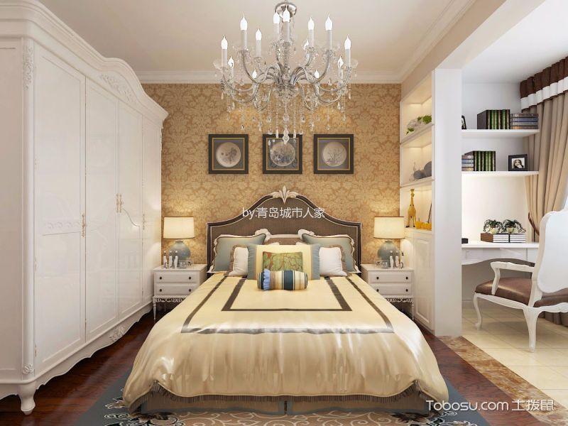 卧室 吊顶_简欧风格87平米两室两厅室内装修效果图