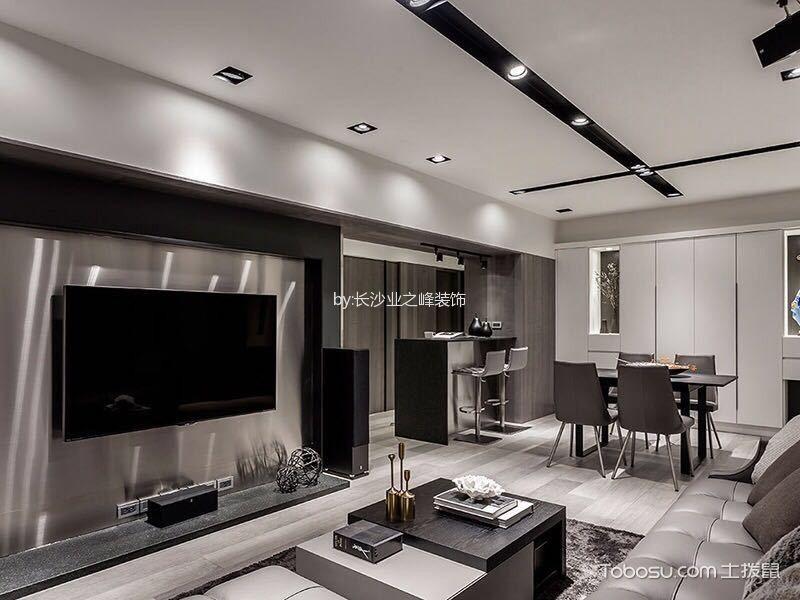 现代简约风格106平米三室两厅新房装修效果图