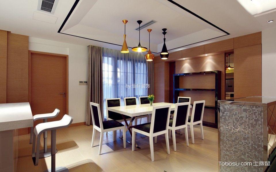现代简约风格130平米复式室内装修效果图