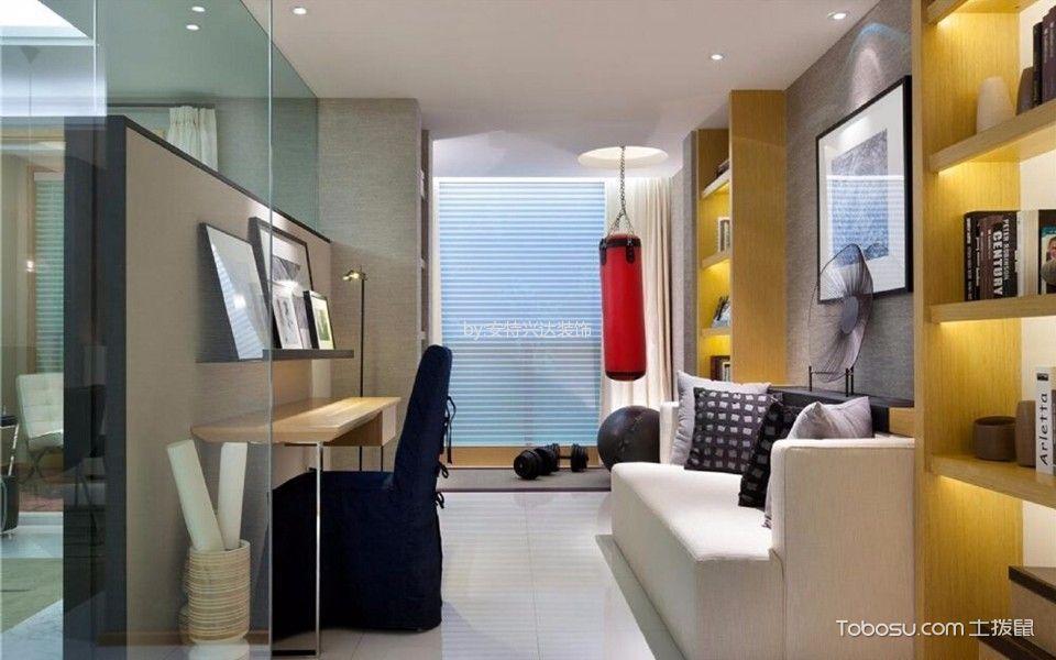书房白色沙发现代风格效果图