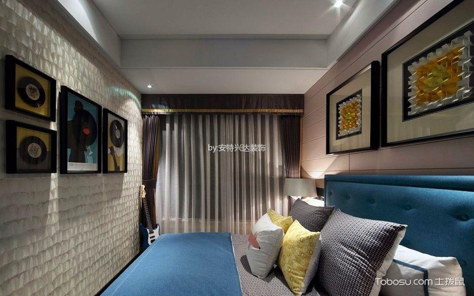 儿童房米色照片墙现代风格装饰图片