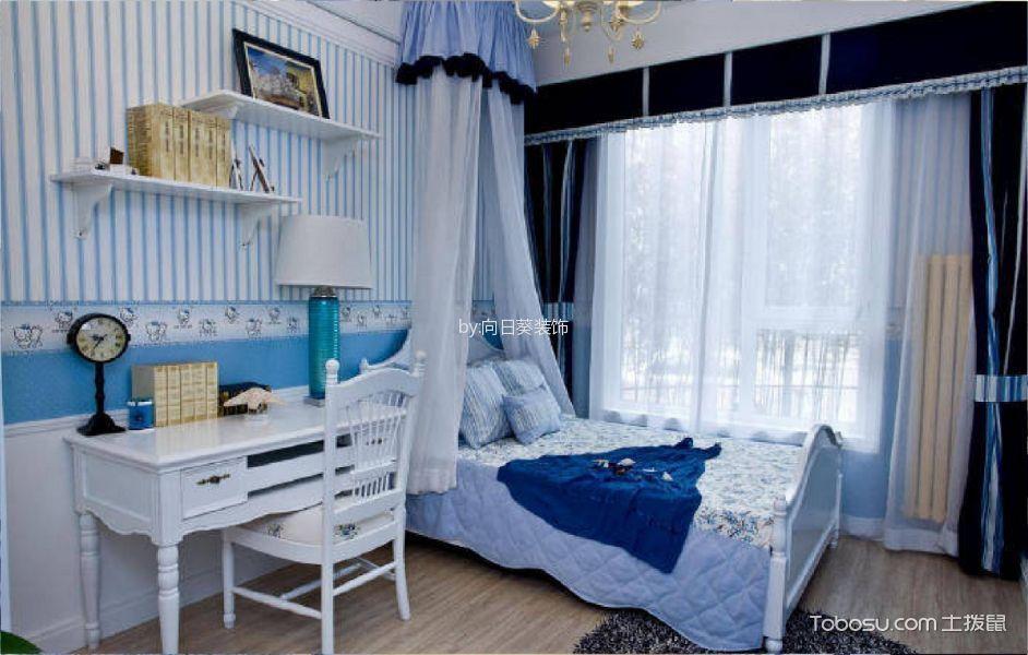 卧室白色书桌地中海风格装潢图片