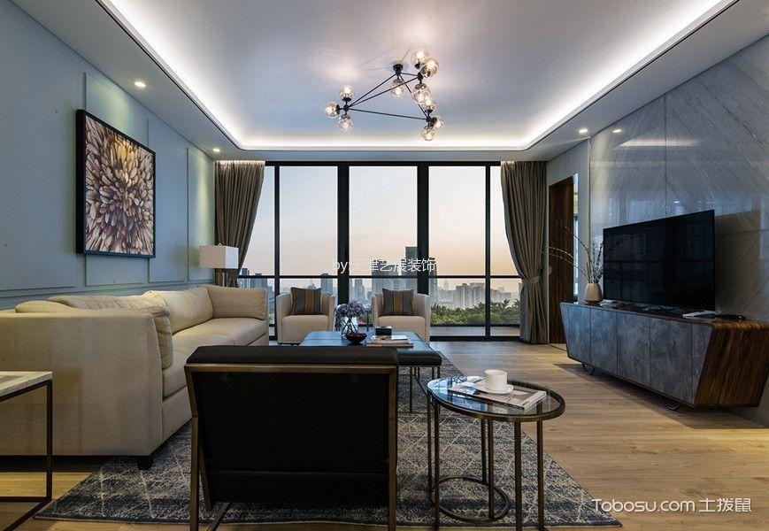 现代简约风格110平米两室两厅新房装修效果图