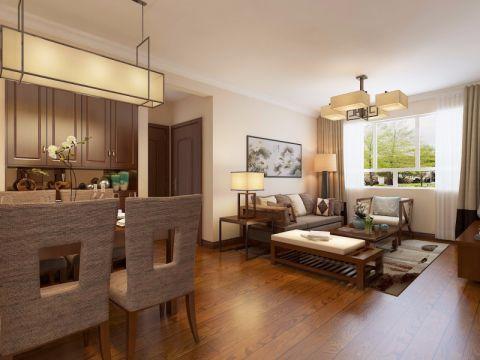 客厅窗帘新中式风格装修设计图片