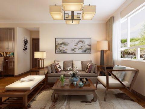 客厅沙发新中式风格装饰设计图片