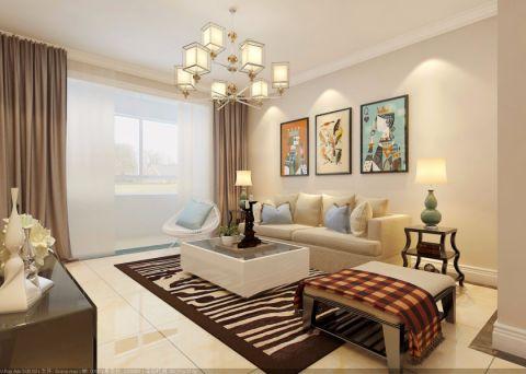 现代风格85平米两室两厅新房装修效果图