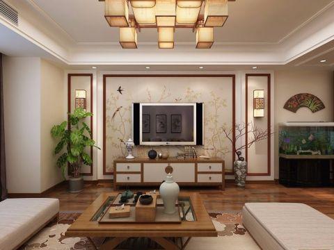 新中式风格142平米四室两厅新房装修效果图