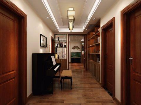 玄关地板砖新中式风格装潢效果图