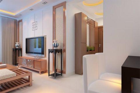 客厅电视柜简中风格装饰图片
