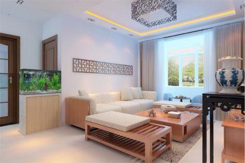 客厅沙发简中风格装饰设计图片
