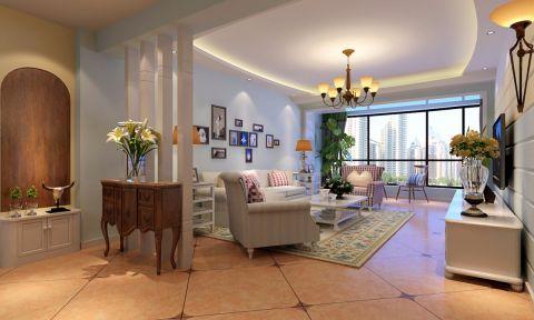 混搭风格110平米三室两厅新房装修效果图