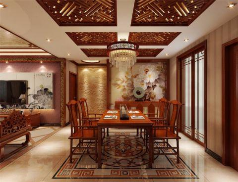 餐厅餐桌中式风格装饰图片