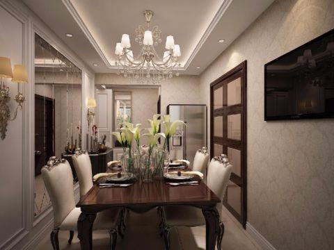 餐厅餐桌新古典风格装潢效果图