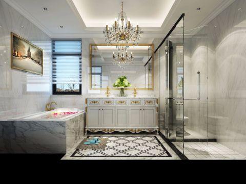 卫生间洗漱台欧式风格装修效果图