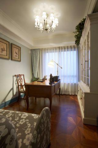 书房书桌地中海风格装潢图片