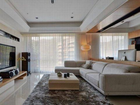 简约风格139平米三室两厅室内装修效果图