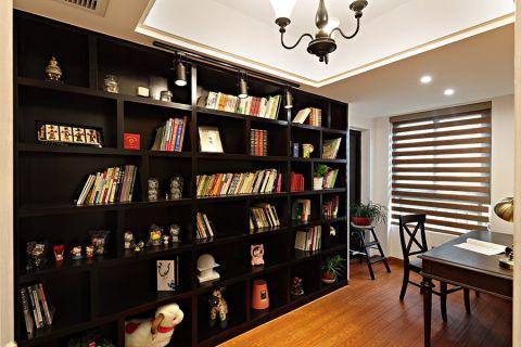 书房地板砖美式风格装修设计图片