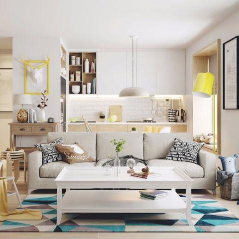 客厅茶几北欧风格装修效果图