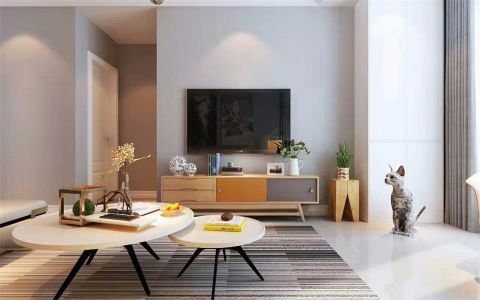 客厅电视柜现代简约风格装修图片